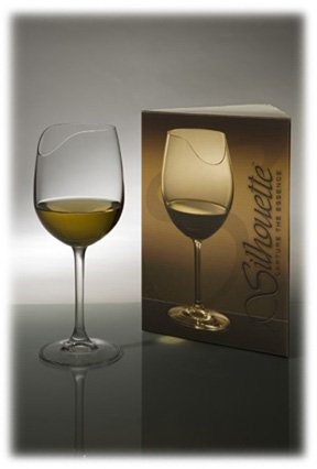 silhouette wine glass