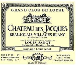 2004 Louis Jadot Beaujolais-Villages Blanc Chateau des Jacques