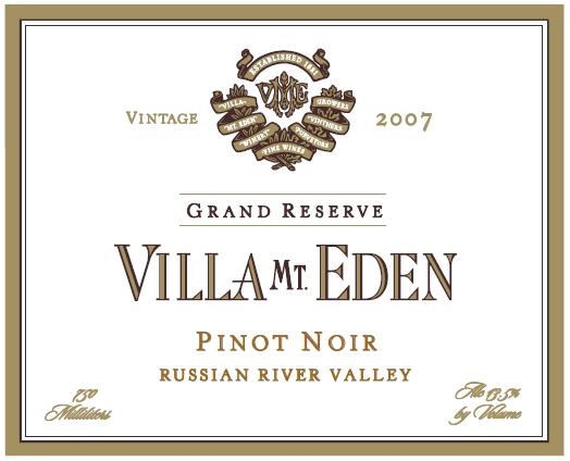 2007 Villa Mt. Eden Pinot Noir Russian River Valley
