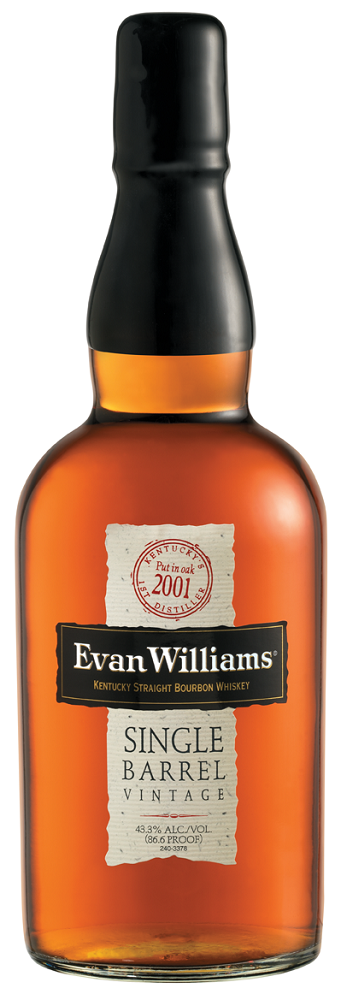 Evan Williams Single Barrel Bourbon 2001 Vintage