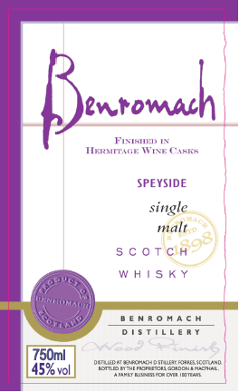 Benromach Hermitage Finish