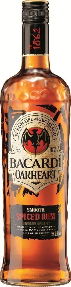 Review bacardi oakheart spiced rum drinkhacker for What goes good with spiced rum