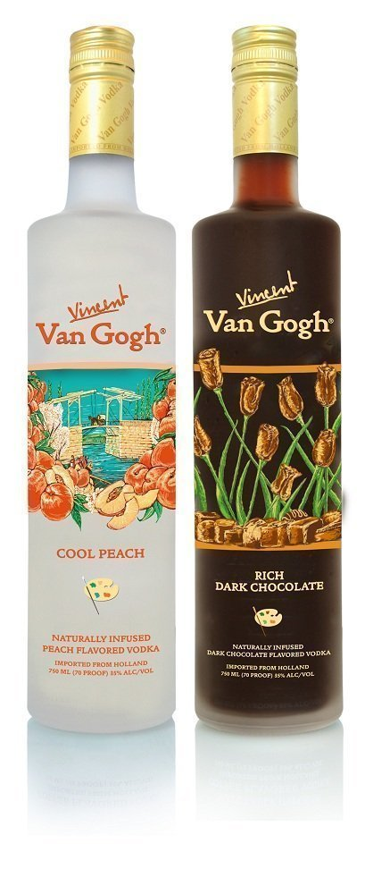 van gogh Rich Dark Chocolate and Cool Peach