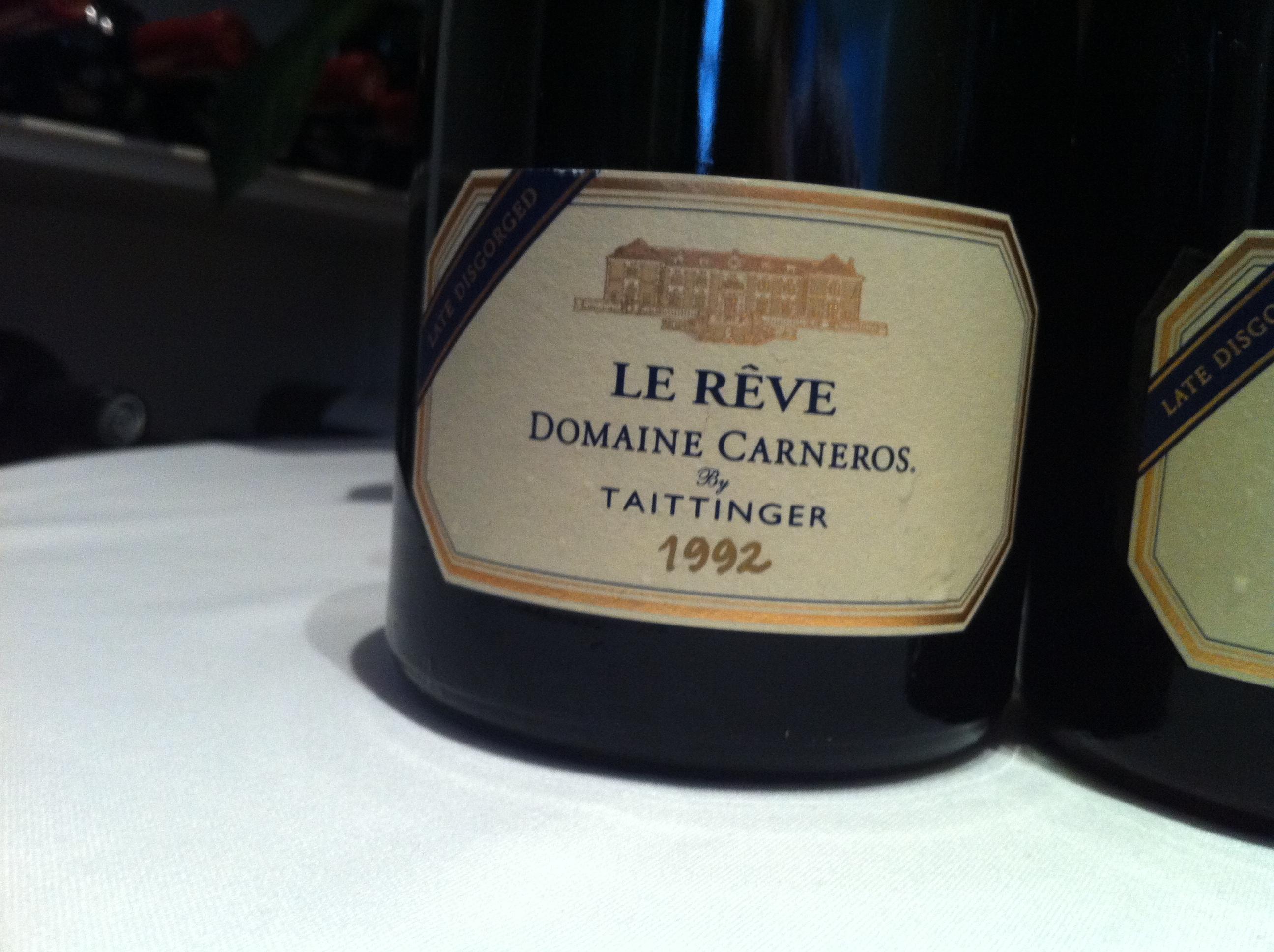 1992 Domaine Carneros Le Reve Blanc de Blancs