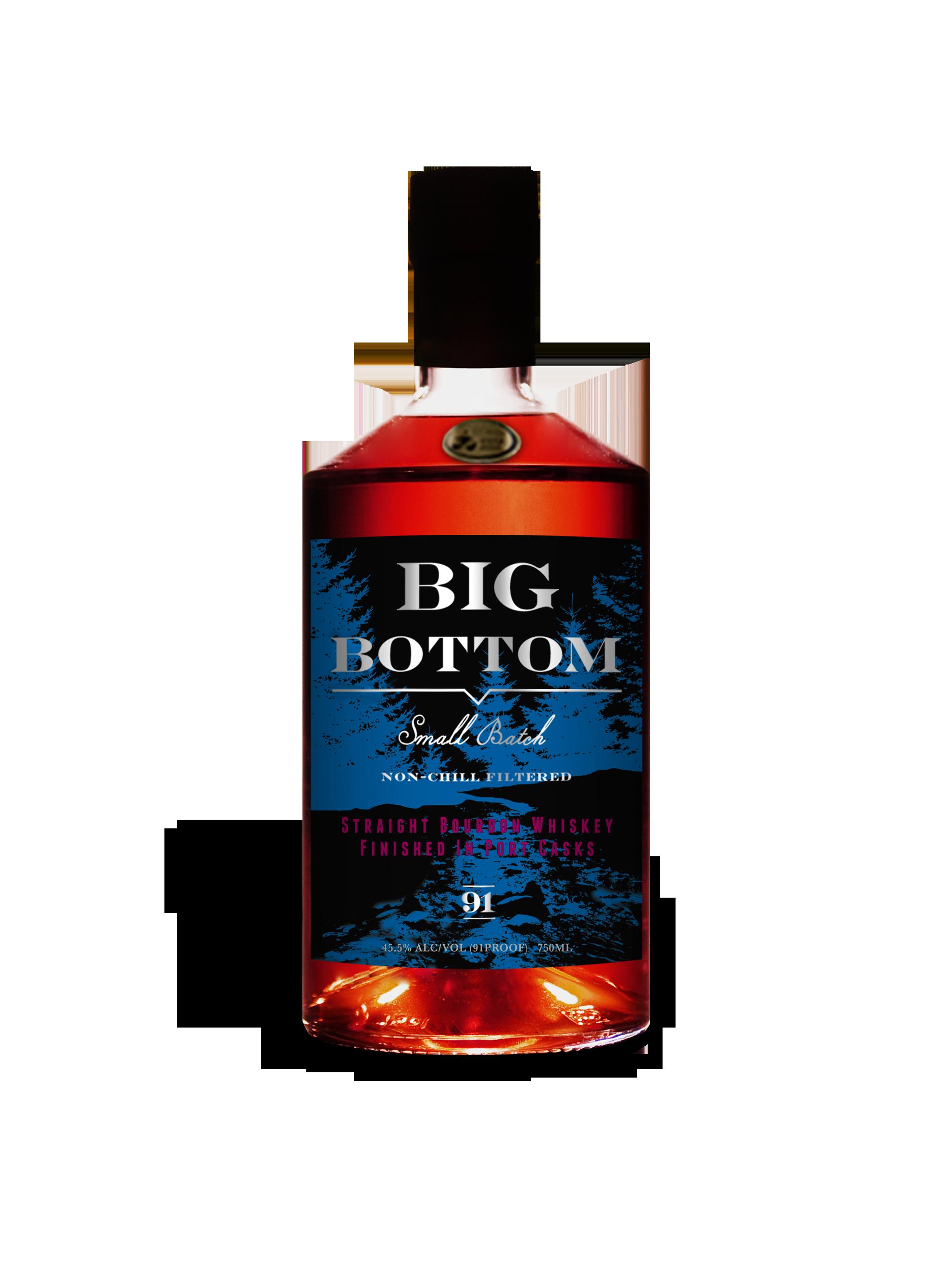 Big Bottom Straight Bourbon Whiskey Port Cask Finish (2012, 5 years old)