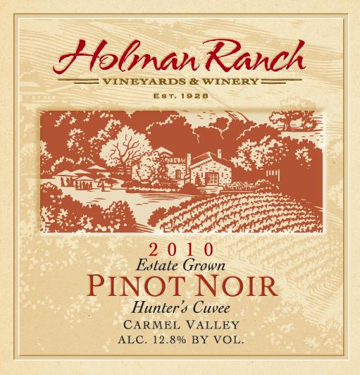 2010 Holman Ranch Pinot Noir Hunter's Cuvee Carmel Valley
