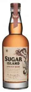 Sugar island spiced Rum label 009