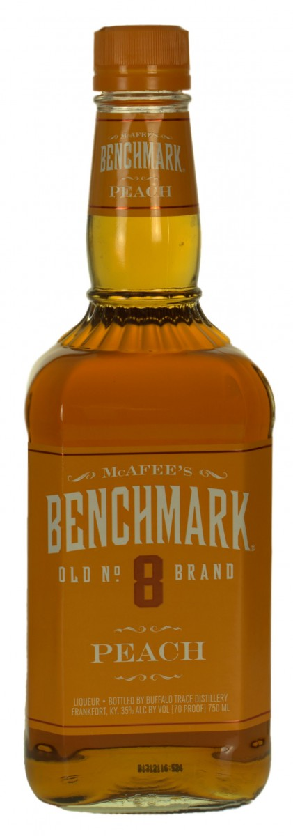 Benchmark No 8 Bourbon Peach 70prf 750ml Glass