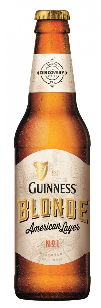 GUINNESS Blonde American Lager Bottle Shot-0