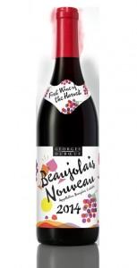 2014 Georges Dubouef Beaujolais Nouveau Bottleshot