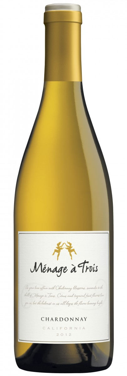 Menage a Trois 2012 Chardonnay Hi Res Bottle Shot