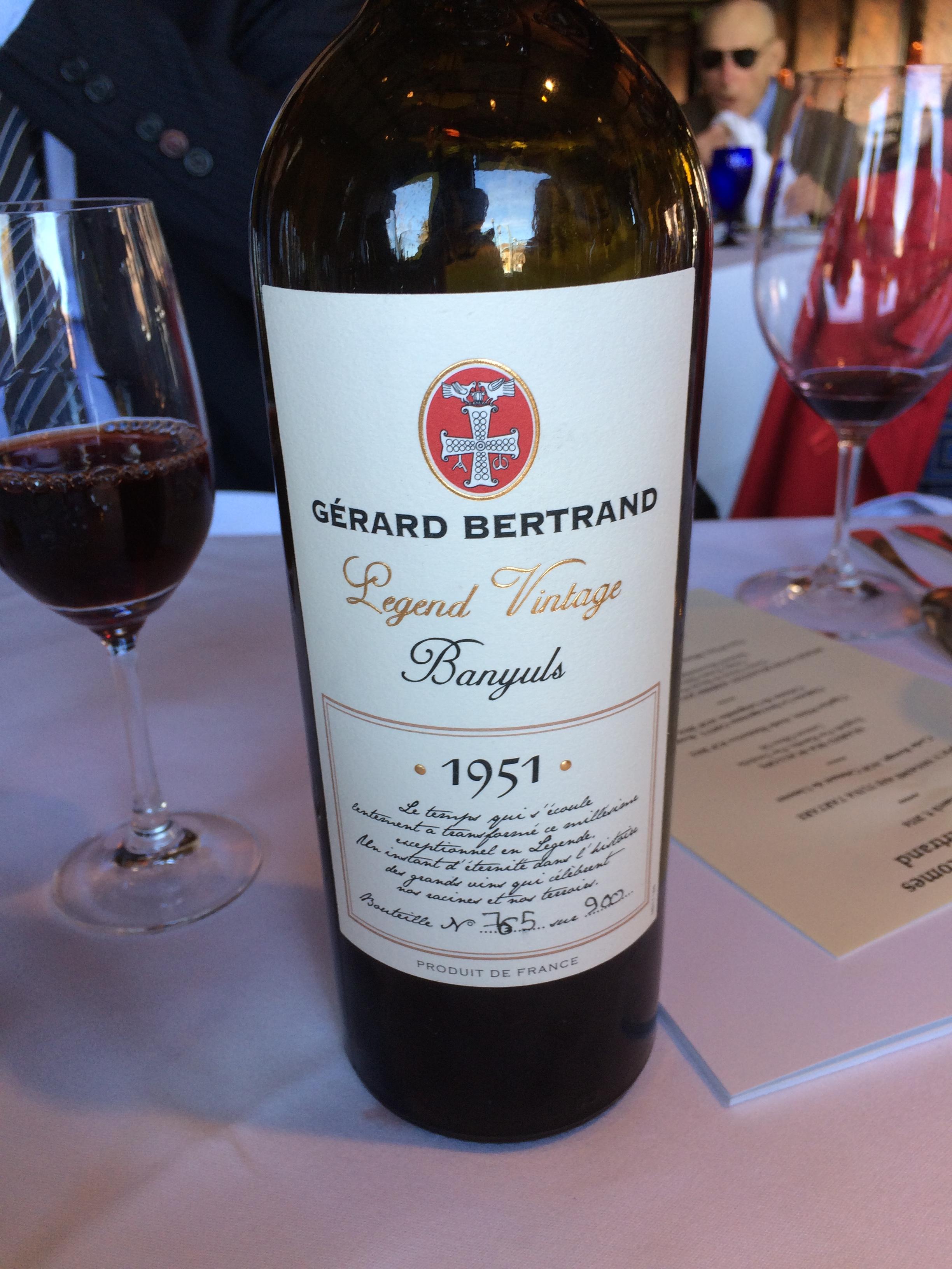 1951Gerard Bertrand Legend Vintage Banyuls Rivesaltes AOP