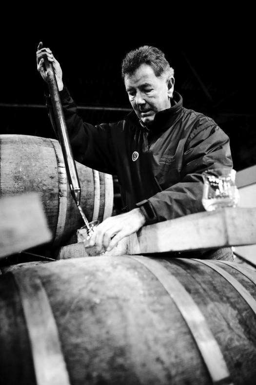 Jim McEwan taking cask samples
