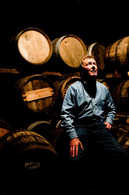 Master Distiller Jim McEwan in Bruichladdich warehouse