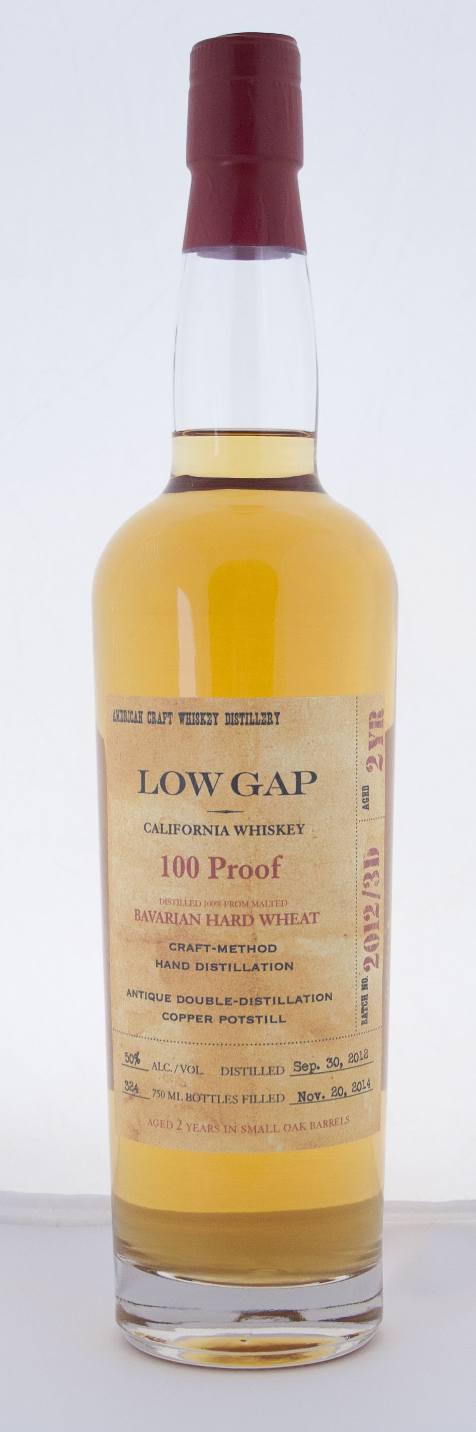 Craft Distillers Low Gap 2 Year Old 100 Proof Whiskey