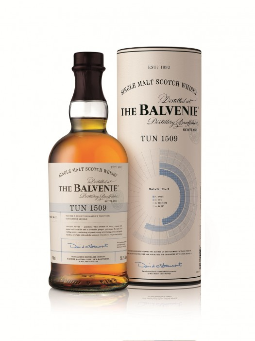 The Balvenie Tun 1509 Batch 2 Bottle & Tube Diagram side 750ml EMAIL