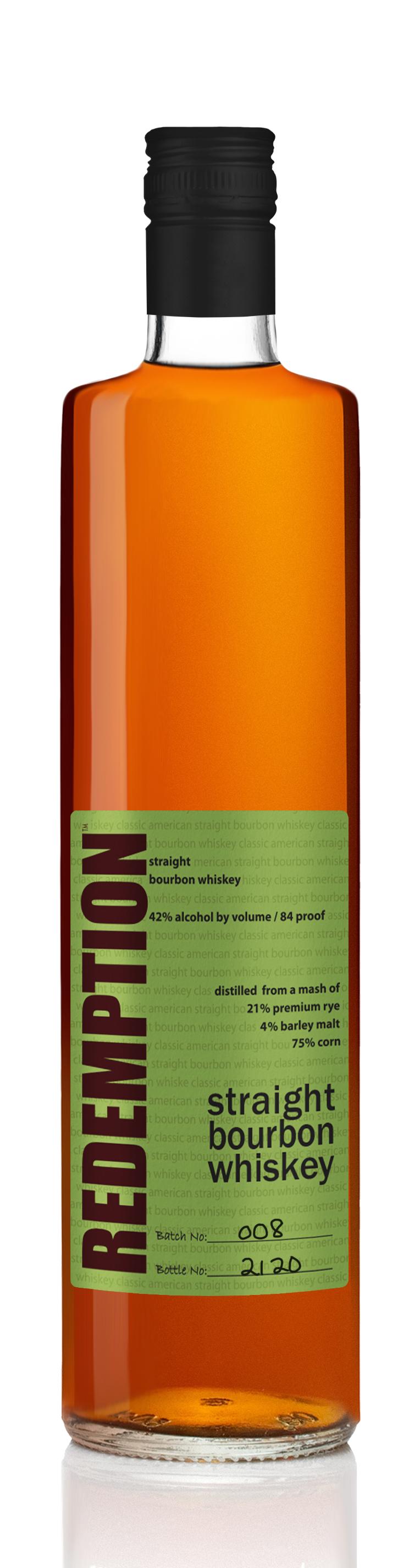 Redemption Straight Bourbon Whiskey Batch 004
