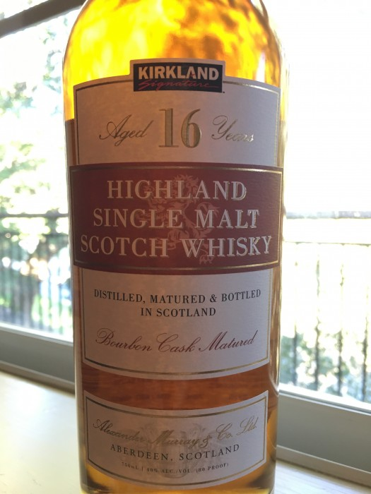 kirkland 16 years old single malt