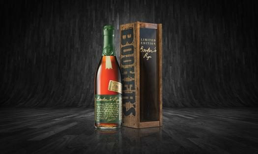 Booker's Rye Bottle + Box Lifestyle Shot