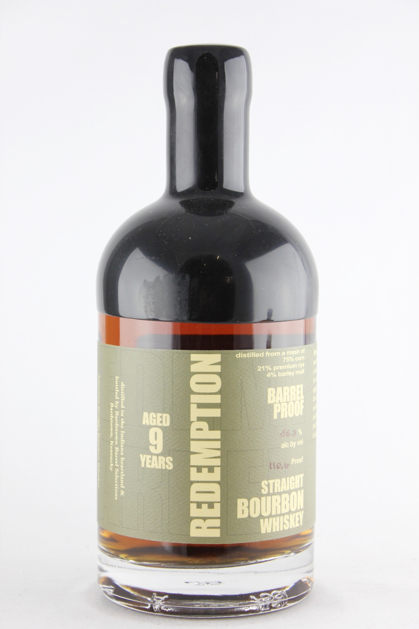 Redemption Aged Barrel Proof Straight Bourbon 9 Years Old