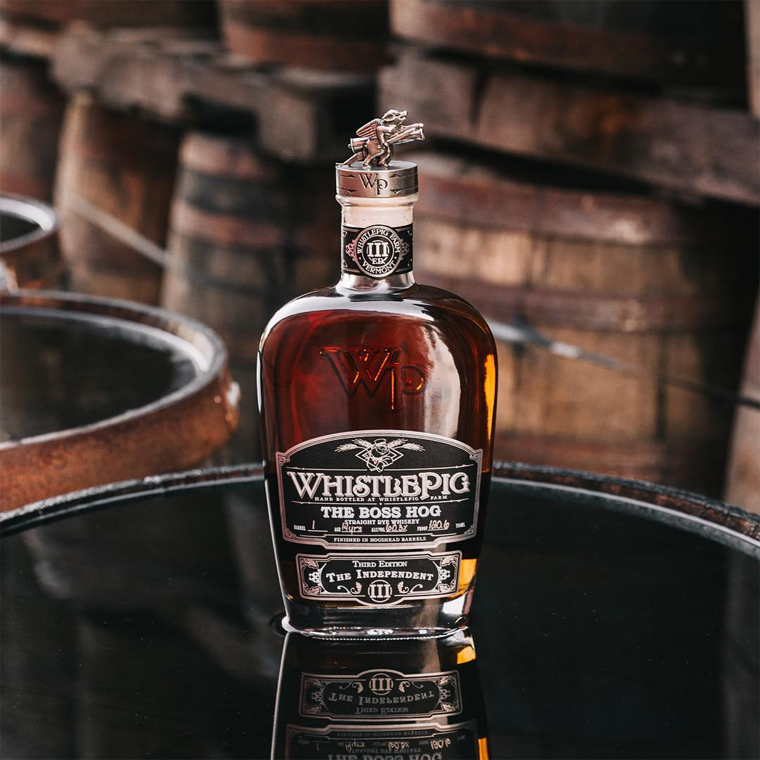 """WhistlePig """"The Boss Hog III: The Independent"""" Rye Whiskey 14 Years Old 2016"""