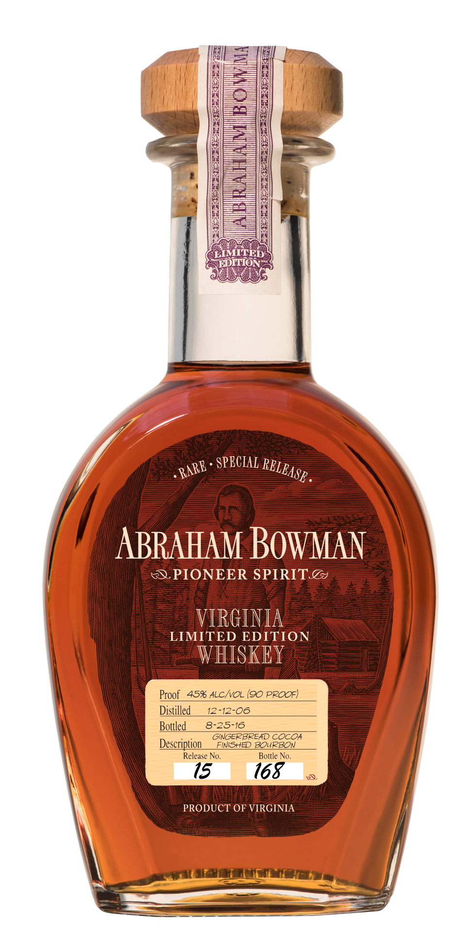 A. Smith Bowman Abraham Bowman Gingerbread Cocoa Finished Bourbon