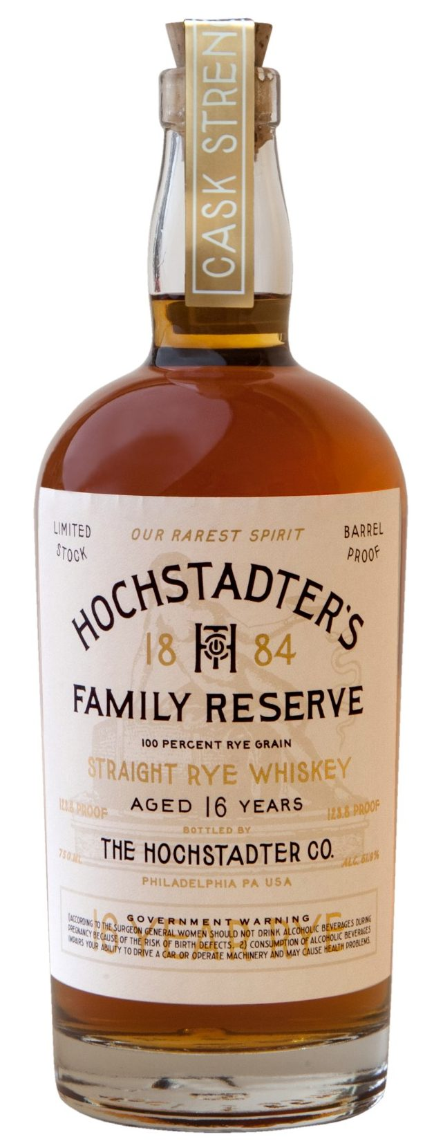 Hochstadter's Family Reserve Straight Rye Whiskey 16 Years Old