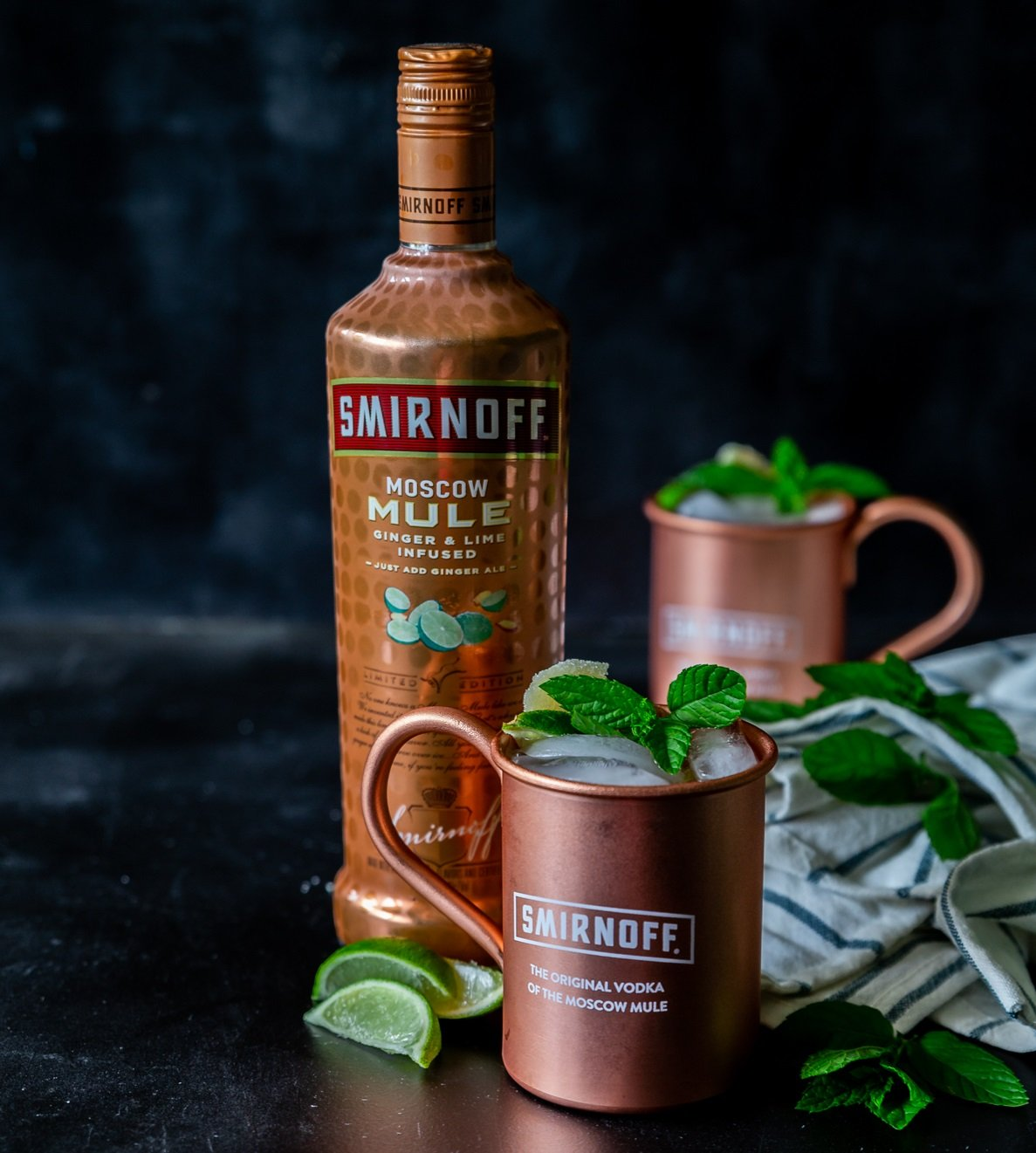Smirnoff Moscow Mule Ginger & Lime Infused Vodka