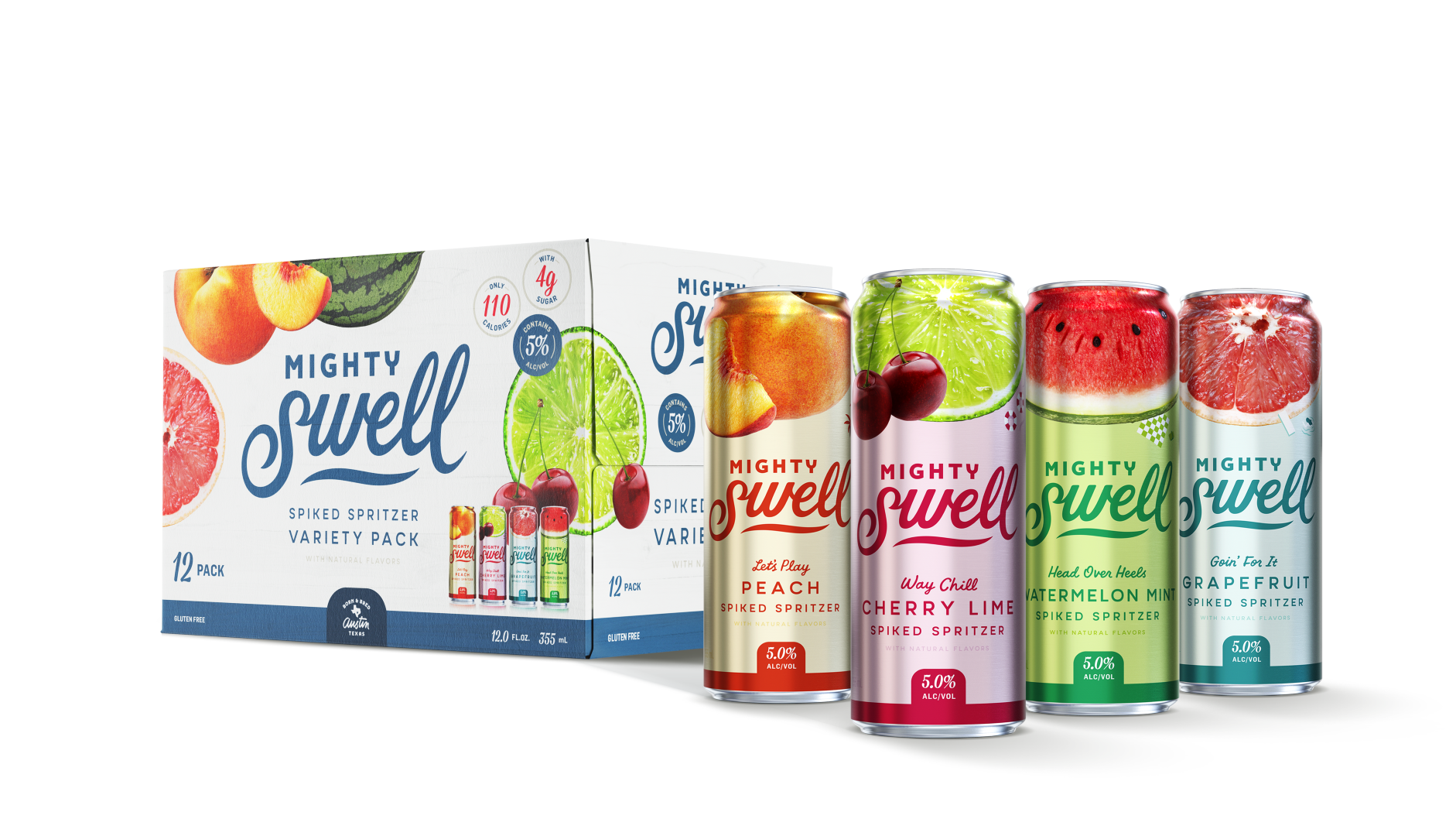 Mighty Swell Cherry Lime Spiked Seltzer