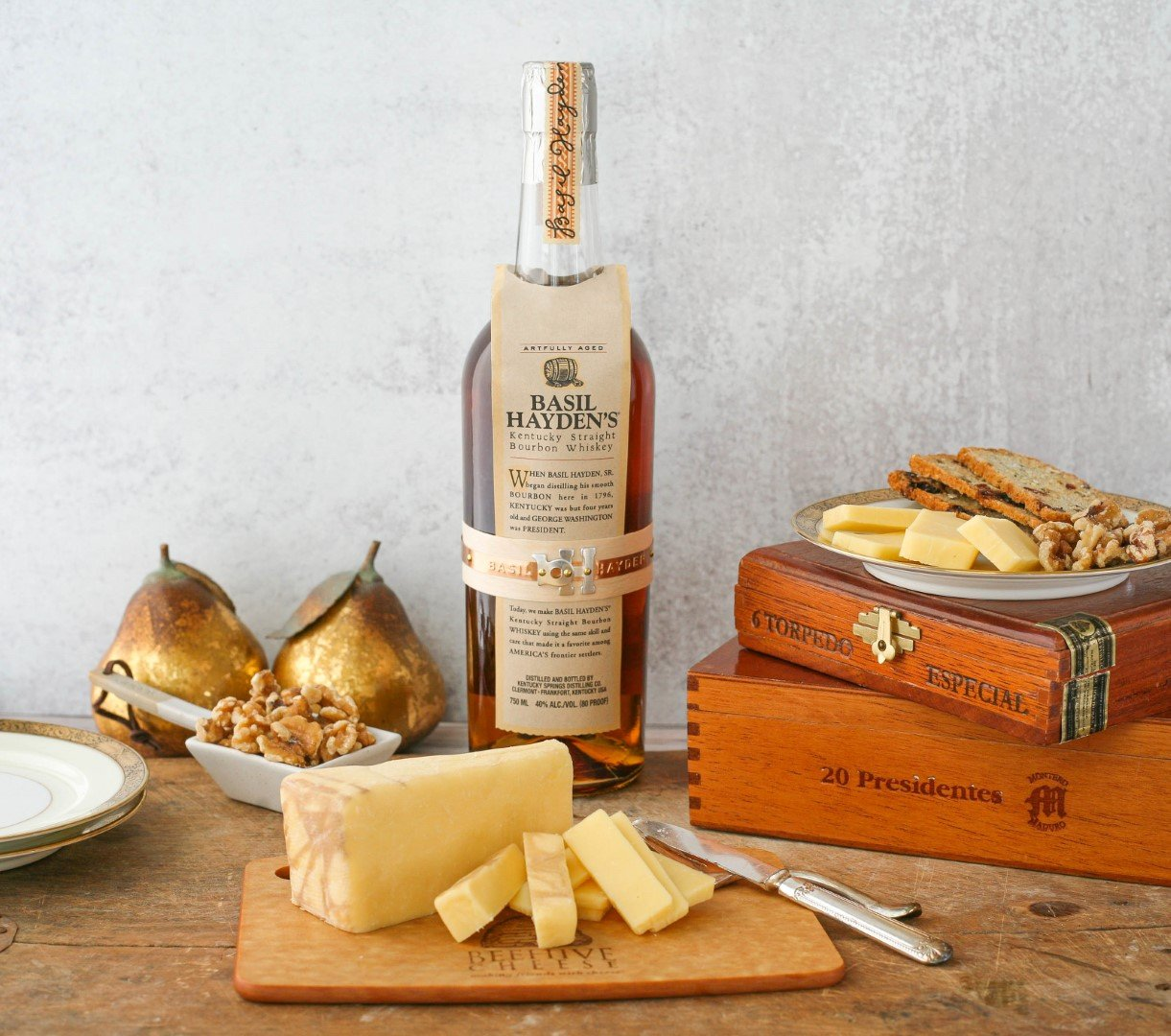 """Basil Hayden x Beehive """"Pour Me a Slice"""" Bourbon-Infused Cheese"""