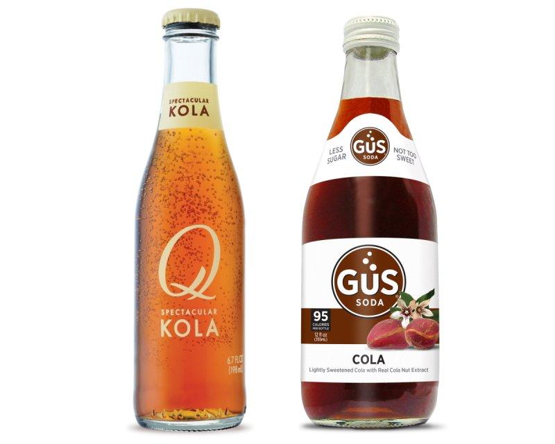 Bottles of Q Kola and GuS Cola.