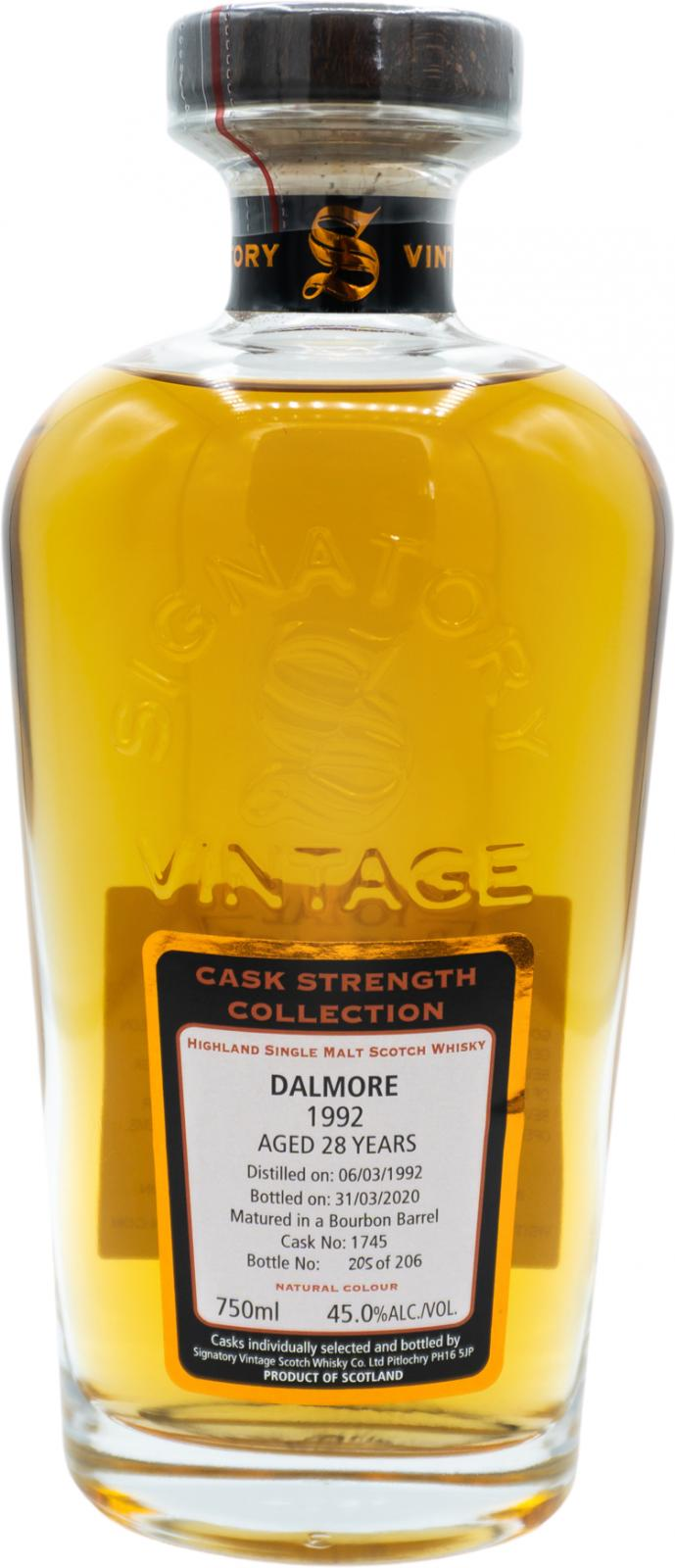 Signatory Dalmore Vintage 27 Years Old (1992)
